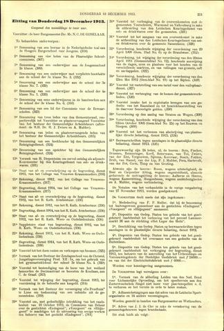 Handelingen van de Raad 1913-12-18