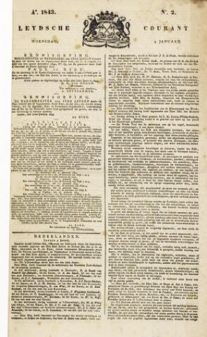 Leydse Courant 1843-01-04