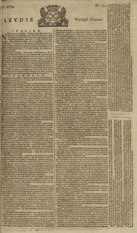 Leydse Courant 1754-09-13