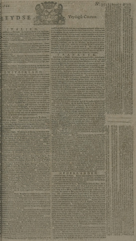 Leydse Courant 1744-03-20