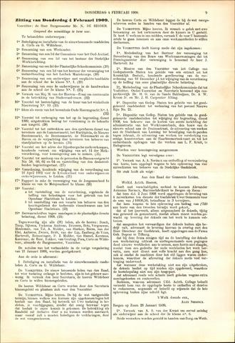 Handelingen van de Raad 1909-02-04