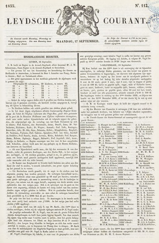 Leydse Courant 1855-09-17