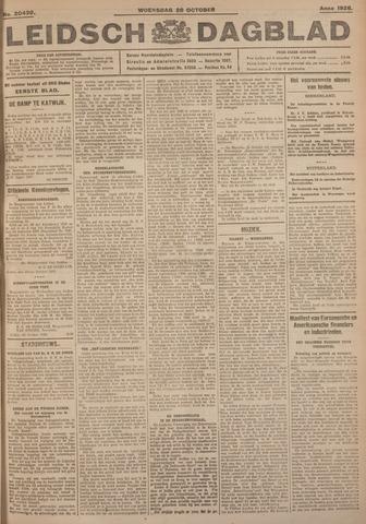 Leidsch Dagblad 1926-10-20