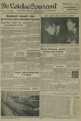 Leidse Courant 1958-04-01