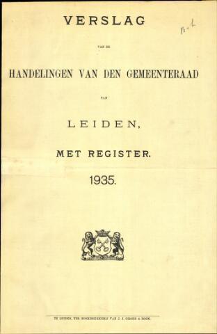 Handelingen van de Raad 1935-01-01