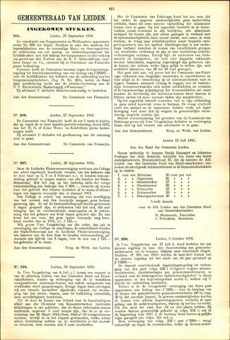 Handelingen van de Raad 1916-09-27