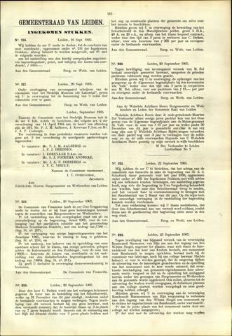 Handelingen van de Raad 1905-09-16