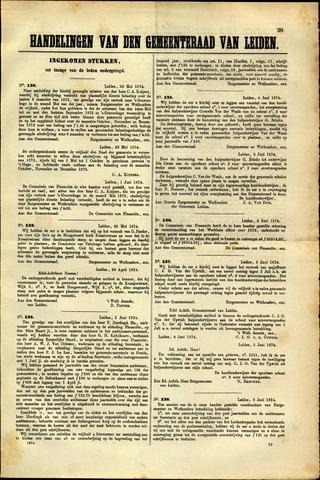 Handelingen van de Raad 1874-05-30