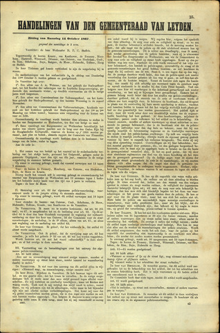 Handelingen van de Raad 1867-10-14