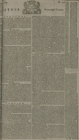 Leydse Courant 1749-09-03