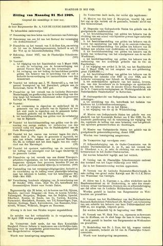 Handelingen van de Raad 1928-05-21
