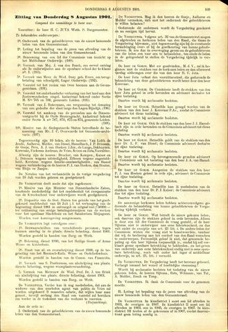 Handelingen van de Raad 1901-08-08