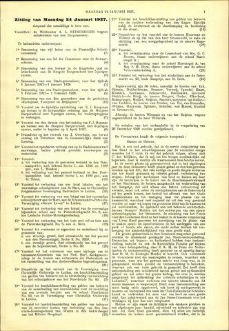 Handelingen van de Raad 1927-01-24