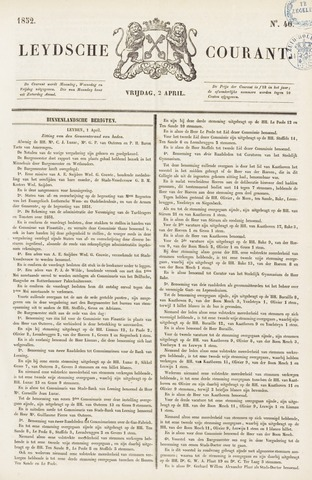 Leydse Courant 1852-04-02
