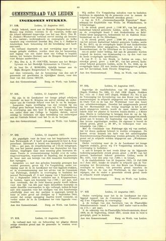 Handelingen van de Raad 1937-08-12