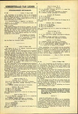 Handelingen van de Raad 1920-03-11