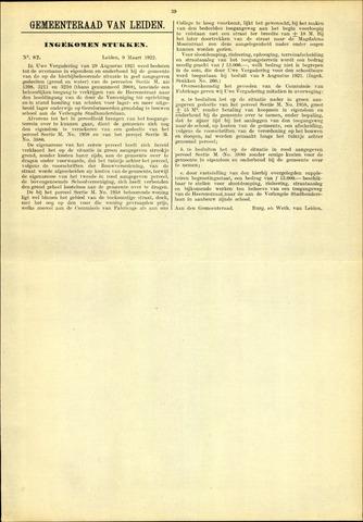 Handelingen van de Raad 1922-03-09