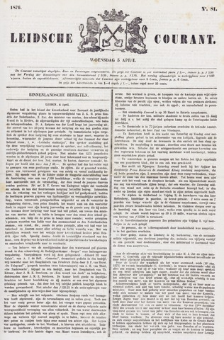 Leydse Courant 1876-04-05