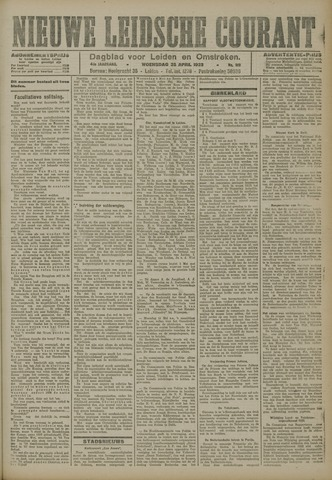 Nieuwe Leidsche Courant 1923-04-25