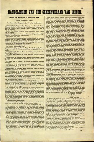 Handelingen van de Raad 1874-09-17