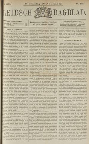 Leidsch Dagblad 1885-11-18
