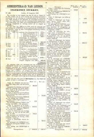 Handelingen van de Raad 1901-08-10
