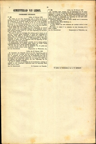 Handelingen van de Raad 1883-02-26