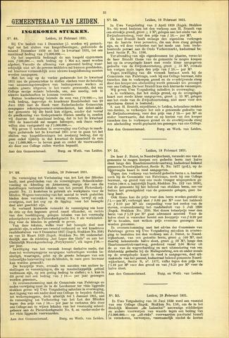 Handelingen van de Raad 1931-02-18