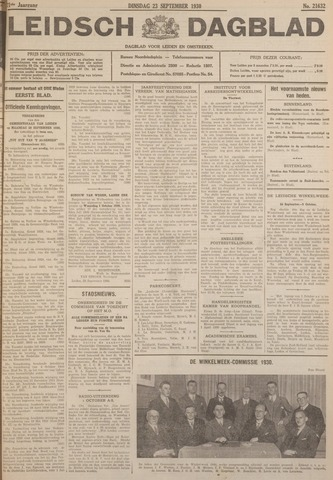 Leidsch Dagblad 1930-09-23