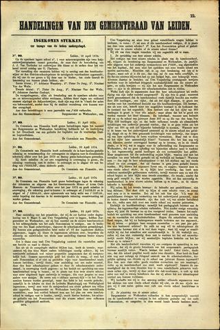 Handelingen van de Raad 1874-04-18