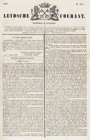Leydse Courant 1869-08-14