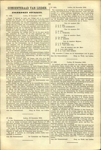 Handelingen van de Raad 1918-12-10
