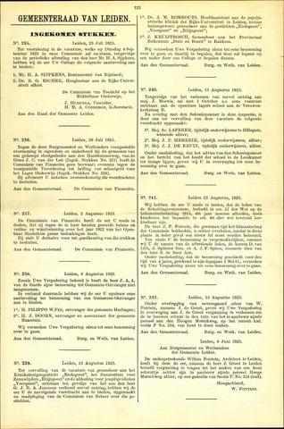Handelingen van de Raad 1923-07-23
