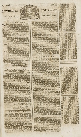 Leydse Courant 1826-02-03