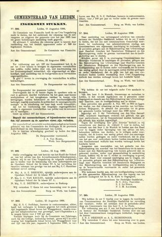 Handelingen van de Raad 1906-08-11