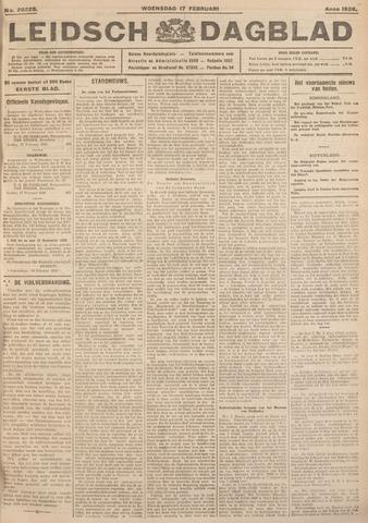 Leidsch Dagblad 1926-02-17