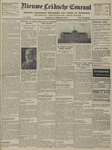 Nieuwe Leidsche Courant 1939-02-21