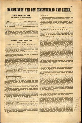 Handelingen van de Raad 1872-10-04
