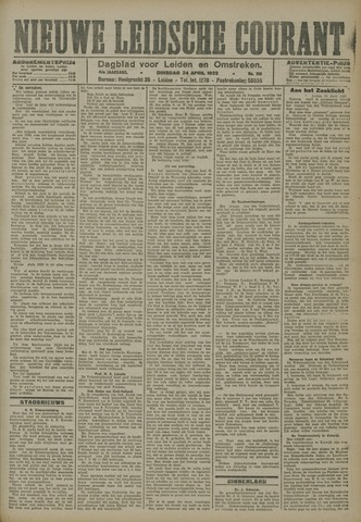 Nieuwe Leidsche Courant 1923-04-24