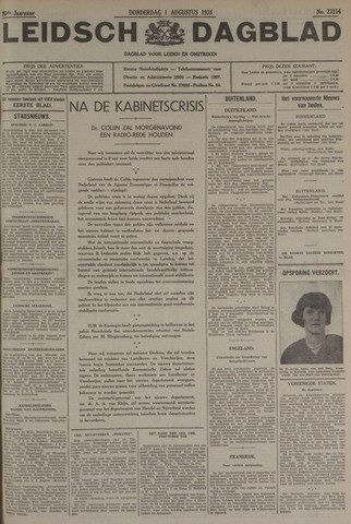Leidsch Dagblad 1935-08-01