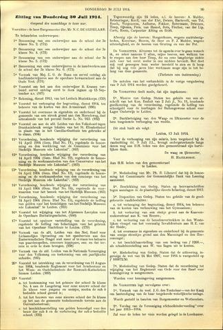 Handelingen van de Raad 1914-07-30