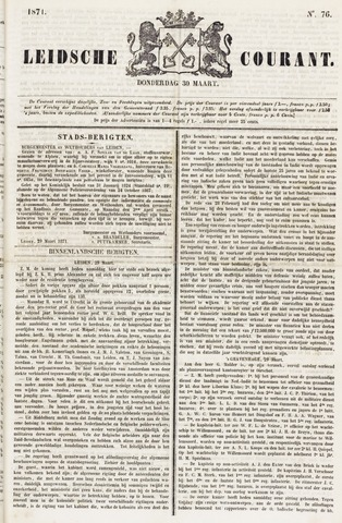 Leydse Courant 1871-03-30