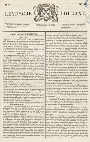 Leydse Courant 1846-05-13