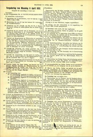 Handelingen van de Raad 1932-04-11