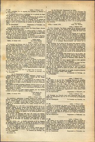 Handelingen van de Raad 1879-02-07