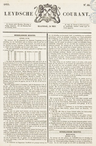 Leydse Courant 1855-05-28