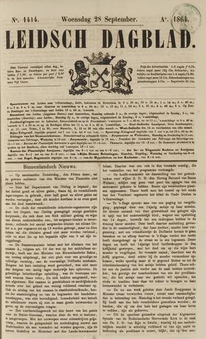 Leidsch Dagblad 1864-09-28