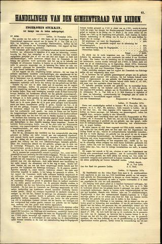 Handelingen van de Raad 1874-11-16