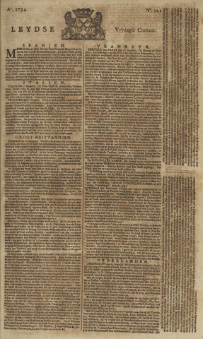 Leydse Courant 1754-08-23