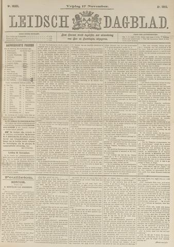 Leidsch Dagblad 1893-11-17